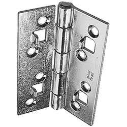Hinge with security lugs